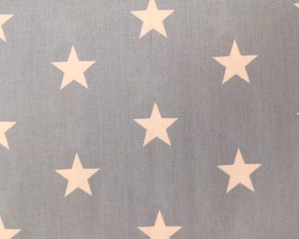 Cotton fabric blue white big stars