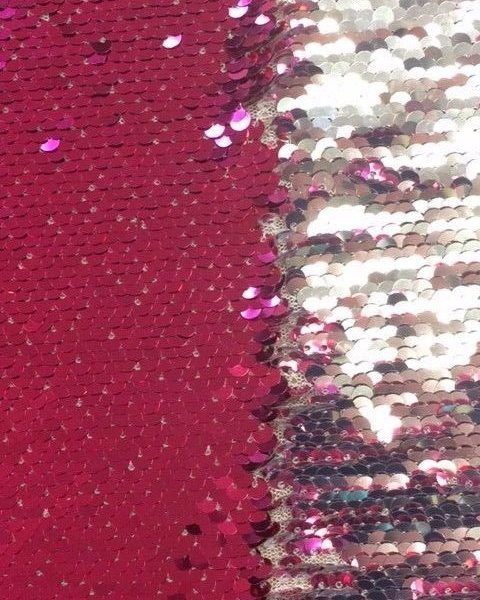 Variation-of-Double-coloured-sequin-fabric-Black-Pink-or-Blue-by-the-half-metre-253246854561-04c6