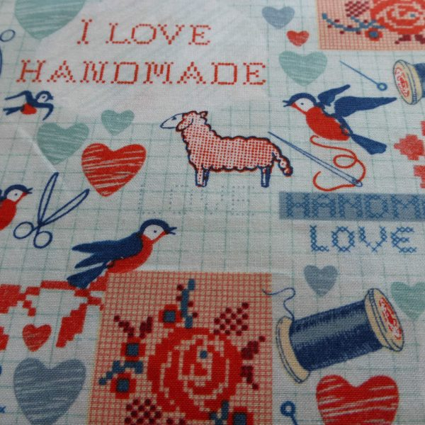 I-Love-Handmade-100-Cotton-Fabric-by-the-half-metre-253228815482