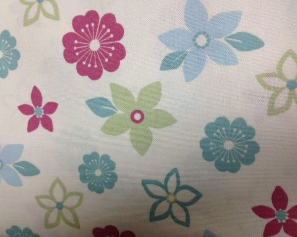 Heavy-Weight-Cotton-Funky-Flowers-fabric-by-the-half-metre-253228815473