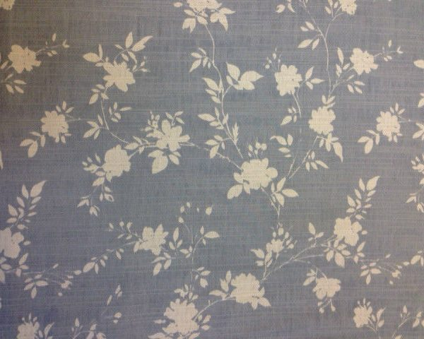 Heavy-Weight-Cotton-Grey-and-White-Floral-fabric-by-the-half-metre-253233688353