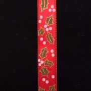 Variation-of-Christmas-Holly-Berry-Satin-Ribbon-Cream-or-Red-by-the-metre-253350291133-1903