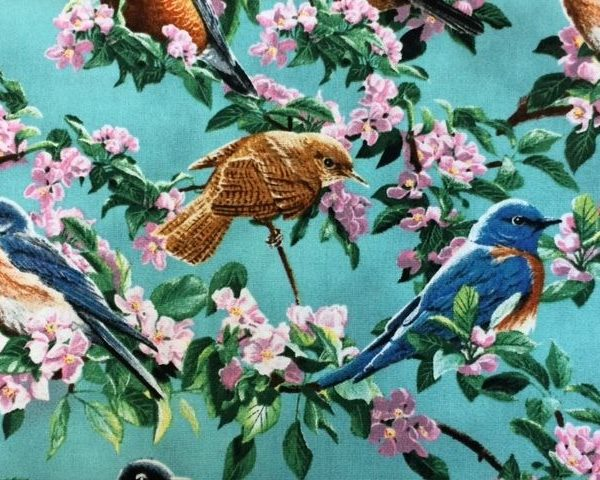 Wild-Wings-Cherry-Tree-100-Cotton-fabric-by-the-half-metre-263287654163