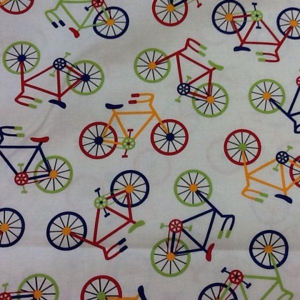 Bike-Print-100-Cotton-fabric-by-the-half-metre-263283009565-2