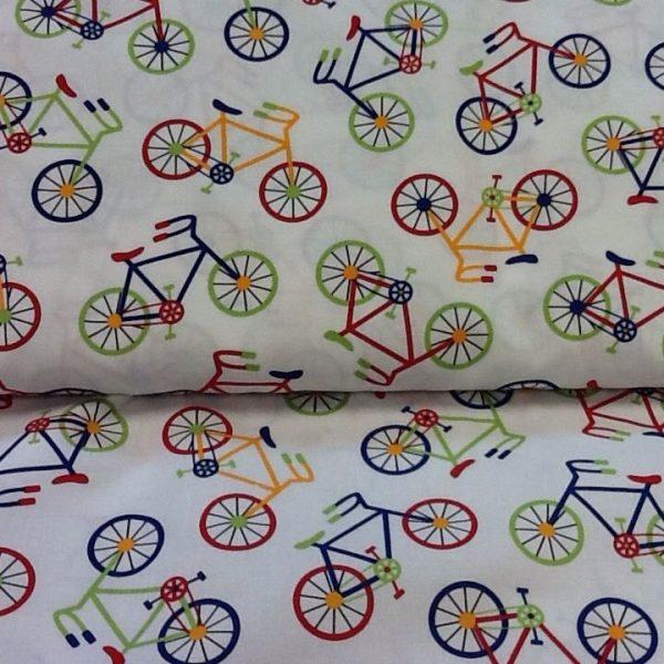 Bike-Print-100-Cotton-fabric-by-the-half-metre-263283009565-3