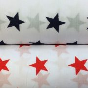 Stars-Red-or-Navy-on-White-Polycotton-by-the-half-metre-263278832085