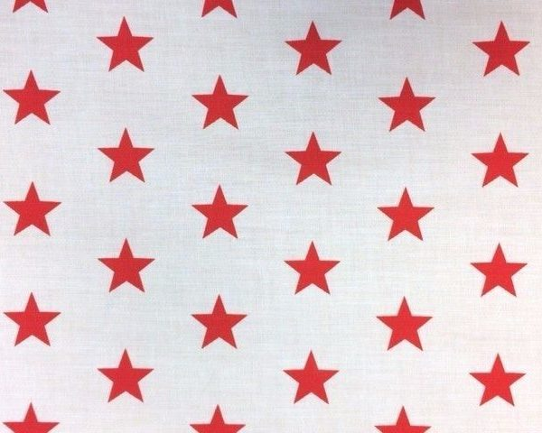 Variation-of-Stars-Red-or-Navy-on-White-Polycotton-by-the-half-metre-263278832085-b353