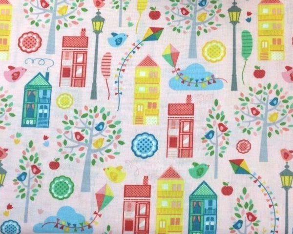 Nutex-Tweet-Street-100-Cotton-fabric-by-the-half-metre-253228815496