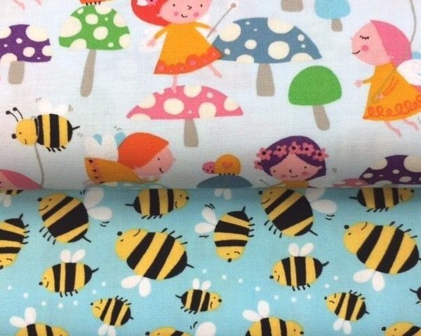 Wings-and-Things-Collection-100-Cotton-fabric-by-the-half-metre-253265508617