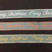 Merry-Christmas-Wire-Edged-Gauze-Ribbon-Red-Gold-or-Silver-by-the-metre-253350291129